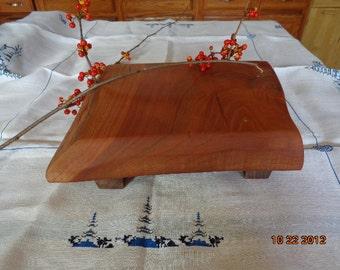 Small Finest Hardwood Footed Cutting Board Chopping Block Cherry Cutting Board