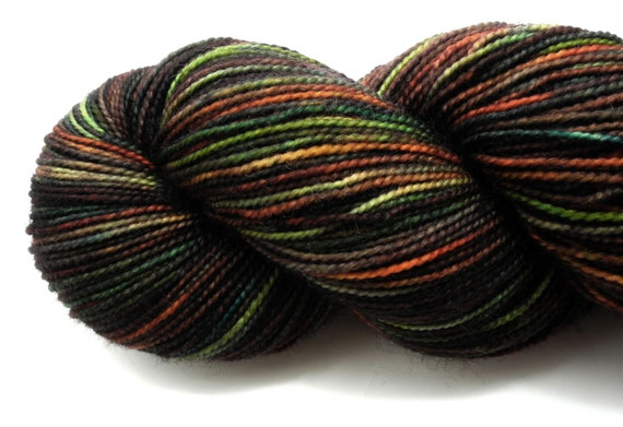 Night's Magic - Pyroclastic Collection on Alter Ego - hand dyed yarn
