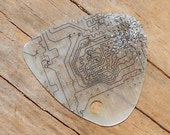 Electronic Guitar Pick -white circuit board