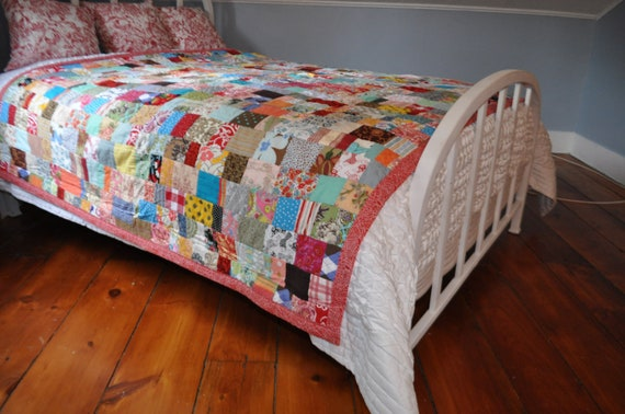 farmhouse quilt large colorful and charming
