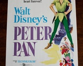 Vintage Walt Disney's Peter Pan Peanut Butter Promo Poster 1958