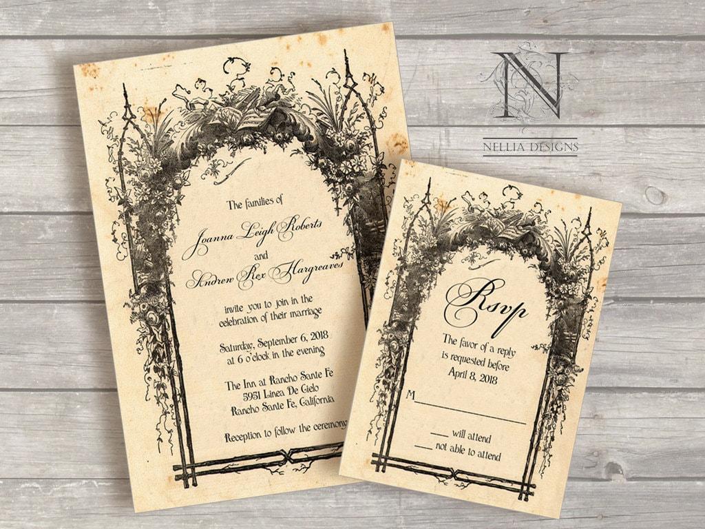 Storybook Wedding Invitation: Items Similar To Rustic Wedding Invitations