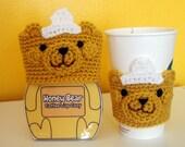 Honey Bear Coffee Cup Sleeve/Cozy
