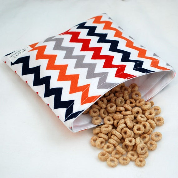 Chevrons (Preppy) - green by mamamade Eco-Friendly Reusable Sandwich Bag