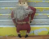 Primitive Christmas Stump Chunk Santa