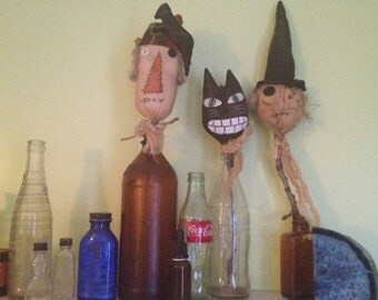 Primitive Halloween Crock Sticks-ready to ship