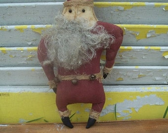Primitive Christmas Stump Chunk Santa