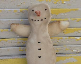 Primitive Snowman Tree Topper-