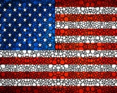American Flag Print from Painting usa Red White Blue Stars And Stripes us Patriotic CANVAS Ready To Hang Large Artwork Fourth of July Stars