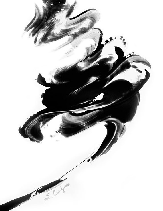 Black and White Painting BW Abstract Art by ...