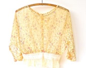 Vintage Altered Antique Sheer Lace Blouse