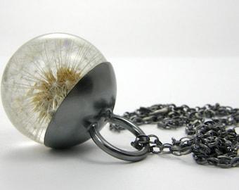 Dandelion Necklace, Dandelion Pendant, Dandelion Resin, Resin Necklace, Resin Pendant, Resin Jewelry