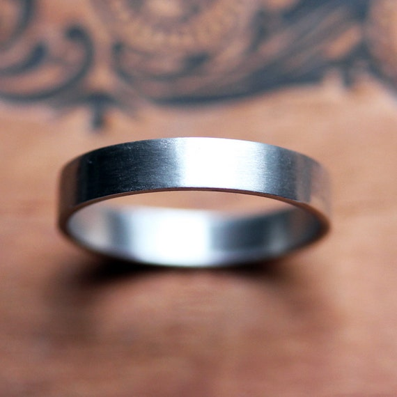 Palladium Wedding Band Unisex Wedding Ring Alternative