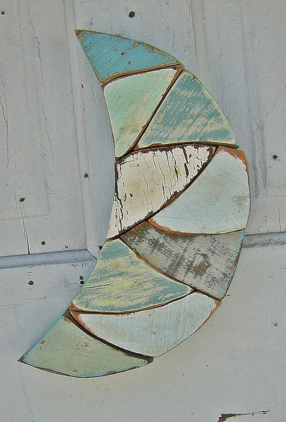 Blue Moon Mosaic Recycled Wood