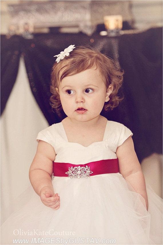 Flower girl dress baby girl dress silk flower girl dress