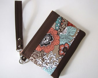 Large Clutch Wristlet Purse Make Up Carry All Pouch