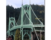 Portland, St Johns Bridge 8 x 10 Archival Print