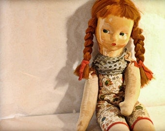 Instant Download Red Head Doll Vintage Doll Digital Download  Commercial Use Digital Graphics Digital Paper