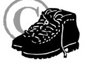 Hiking Boots rubber stamp
