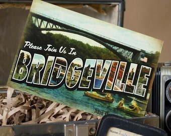 Vintage Large Letter Postcard Save the Date (Bridgeville, Pennsylvania) - Design Fee