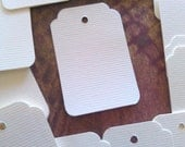 Soft White gift tags - Scalloped / Rounded Corners - product tags - favor tags - set of 50