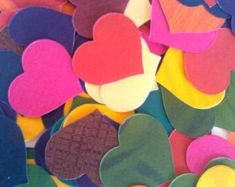 Scrapbook Hearts, Embellishment, paper decor, paper hearts, small heart, Set of 100