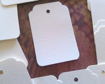 Gift Tags, Scallop Tag, Set of 50, Price Tags, Jewelry Tag, Printed Tag, Wedding Tag