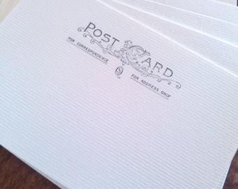 Postcards stamped Postcard blanks set of 20 Chipboard