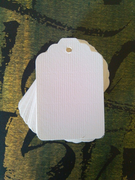 Soft White tags, gift tags, favor tags -  set of 50 - 2 x 3 1/4 inch