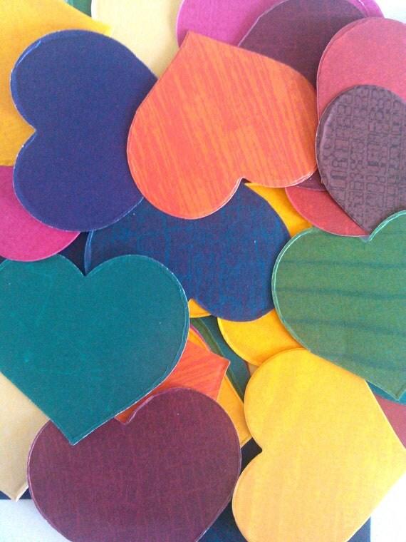 Scrapbook Hearts, Embellishment, paper decor, paper hearts, large heart, Set of 50