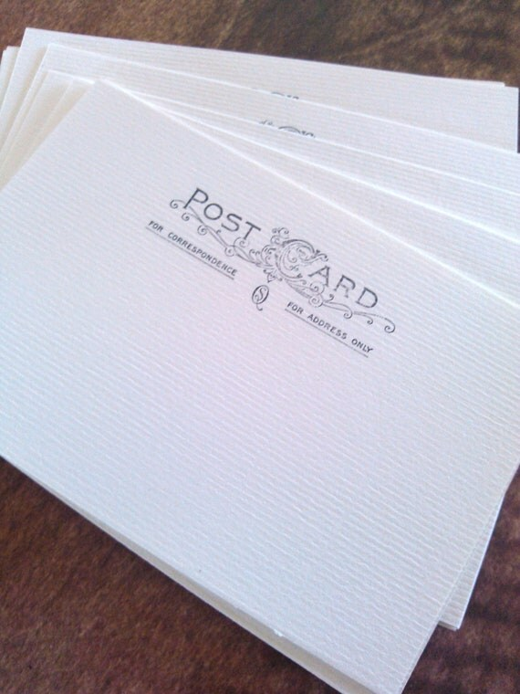 "Postcard blanks - set of 25 - Soft White - 4"" x 6"""