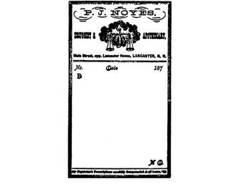 CLEARANCE Vintage Prescription Pharmacy label Rubber Stamp