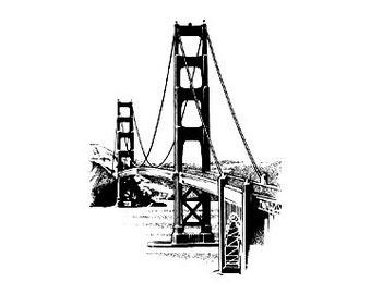 San Francisco Golden Gate Bridge Rubber Stamp