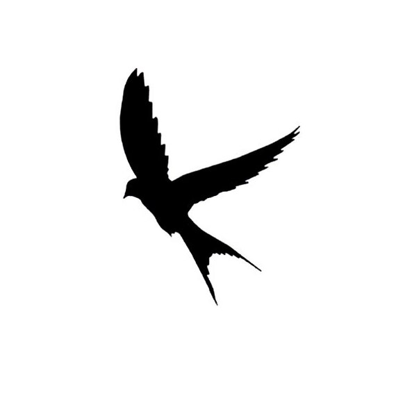 Sparrow Silhouette Flying CLEARANCE Silhouette S...