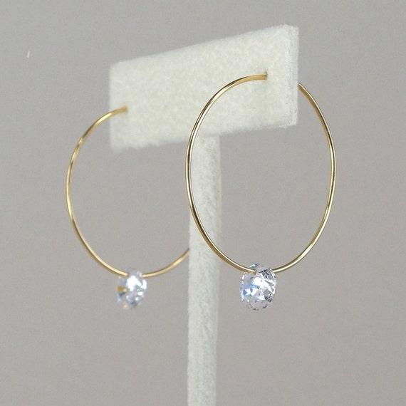 Gold Hoop Earrings Thin Gold Hoops Skinny Simple Gold Earrings