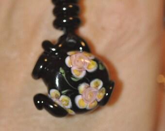 Vintage Kim Miles Tea Pot Necklace