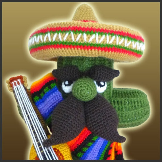 PDF Amigurumi Crochet Pattern El Cactus by DeliciousCrochet