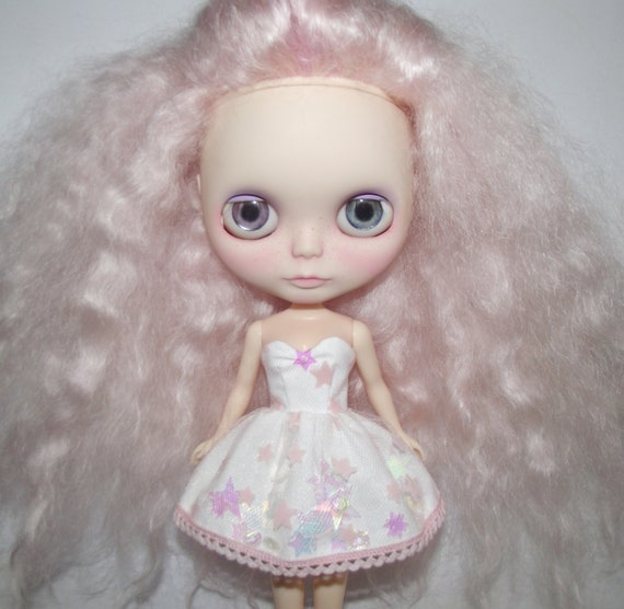 Starlight strapless dress for Blythe and Pullip