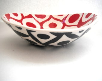 Peppermint  red candy bowl-made to order