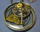 Steampunk Inspired Resin Vintage Watch Part Pendant 8