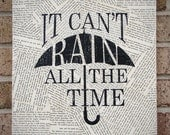 """Quote on Canvas: """"It Can't Rain All The Time"""" The Crow - Canvas Art / Prints on Canvas - StoicDesign"""