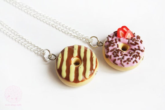 Caramel and Chocolate Donut - Sweets Miniature Jewelry