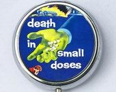 Death in Small Doses pillbox pill case box holder pulp odd