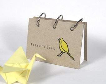 Card File Address Book (Yellow Birdie)