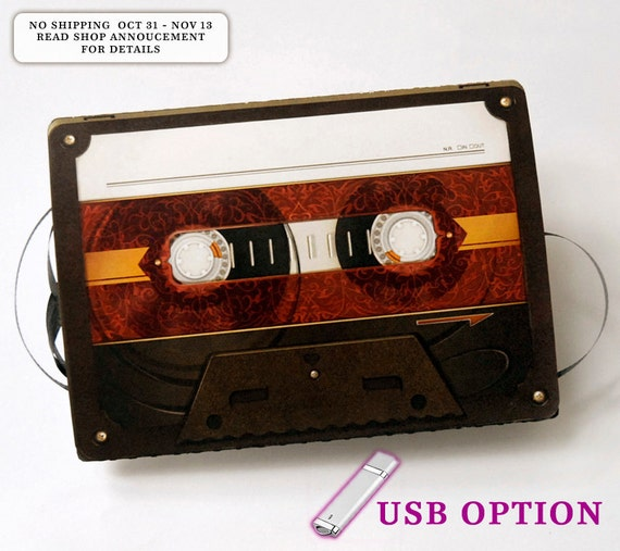 Fancy Make A Mixtape with USB Greeting Card