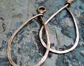 Copper Teardrops, natural or antiqued, handmade findings, PurpleLilyDesigns