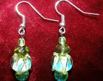 Handblown Glass Lampwork Earrings