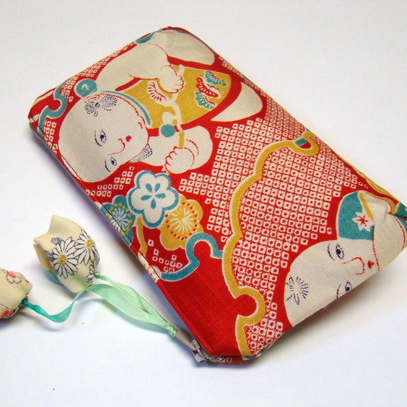 Kimono Pouch - Play with flowers
