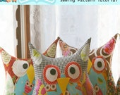Instant Download Treasury Item PATTERN The 1/2 Yard Stuffy WHO Plush Owl Pillow Sewing Pattern