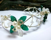 Emerald Green Mistletoe Holiday Bracelet